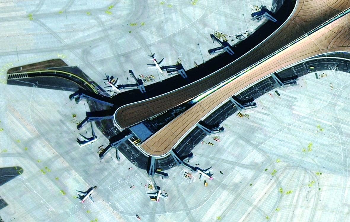 Аэропорт Дасин, снятый китайским спутником. И это не самое высокое разрешение! Источник: sohu.com
