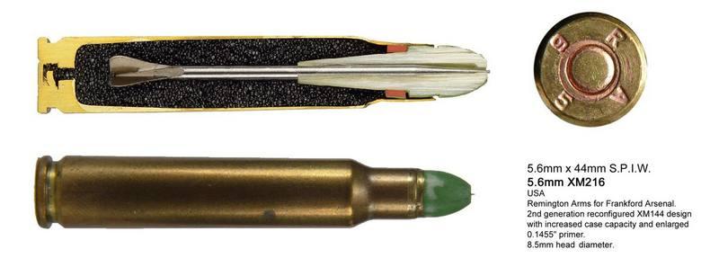 Гибридные двухпульные и трехпульные стреловидные патроны в рамках программы SPIW, США.