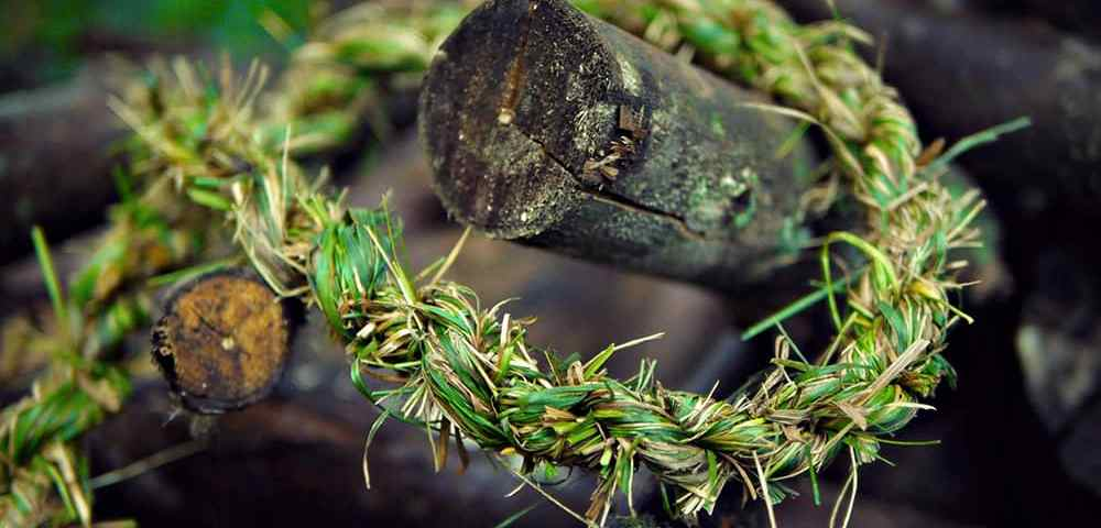 Как сделать верёвку своими руками из травы