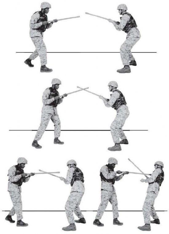 Рис. 3-4. Техника штыкового боя.
