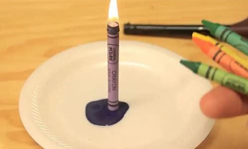 Восковые карандаши можно использовать как свечи. Они могут гореть до 30 минут.
