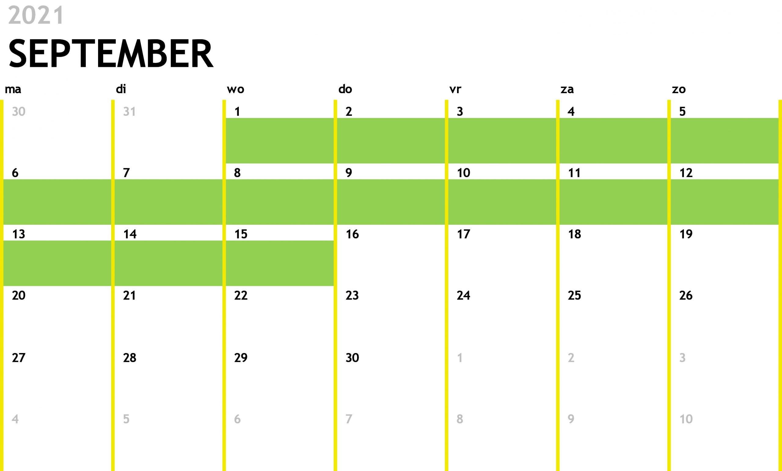 Kalender met 12 maanden1