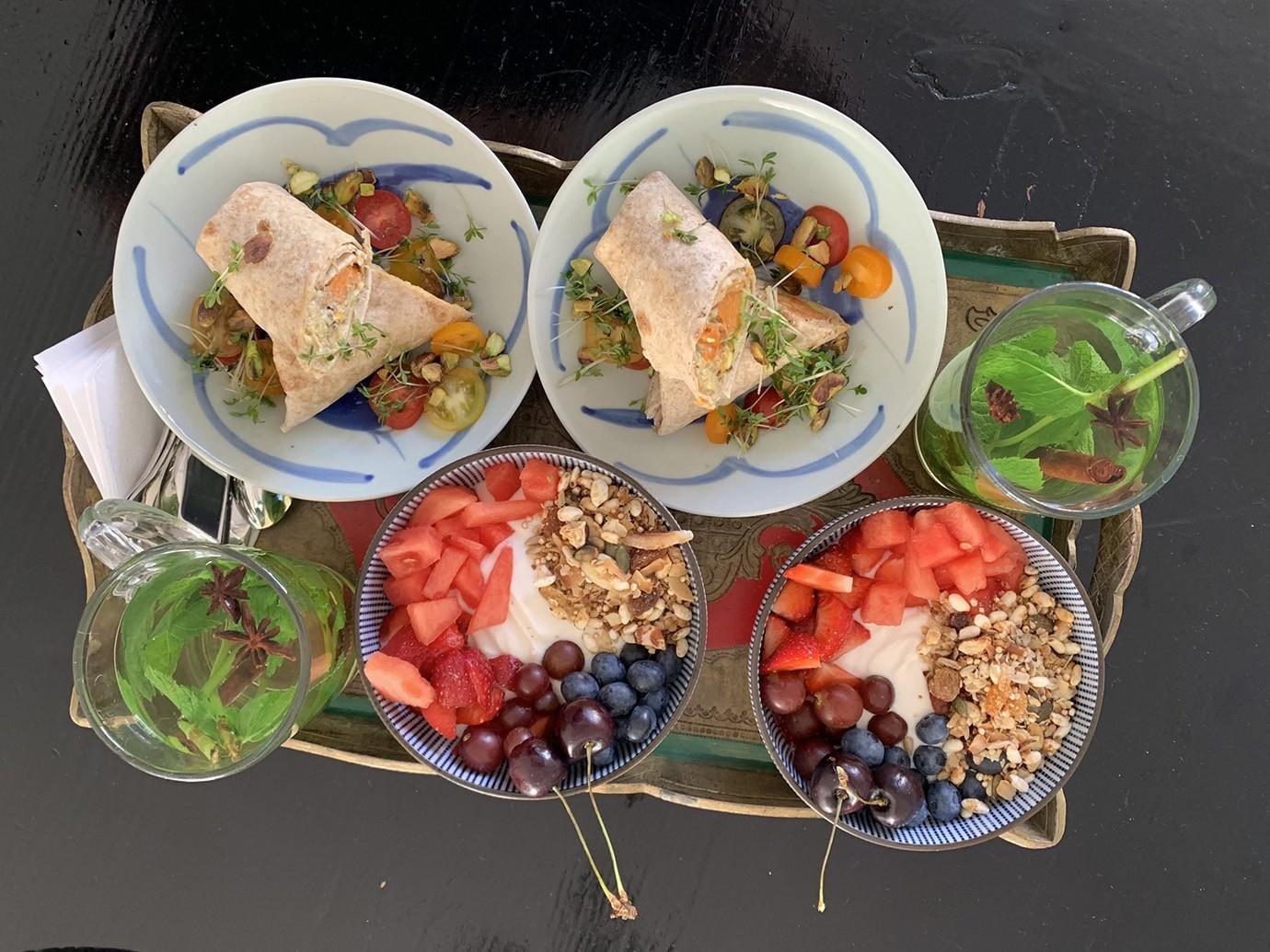 egetarisch of Veganistisch ontbijt