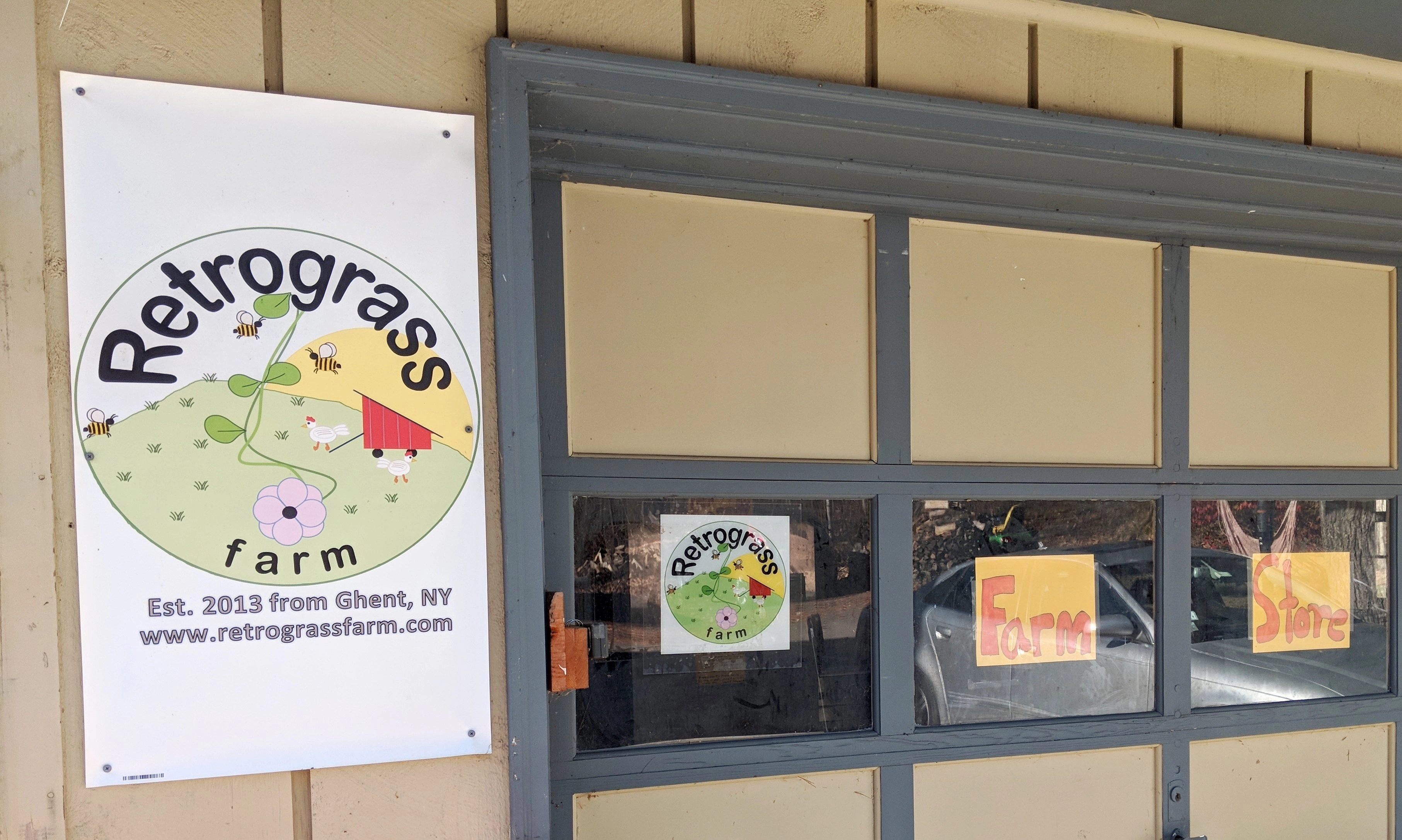 The Retrograss Farm Store with local farm fresh food for purchase