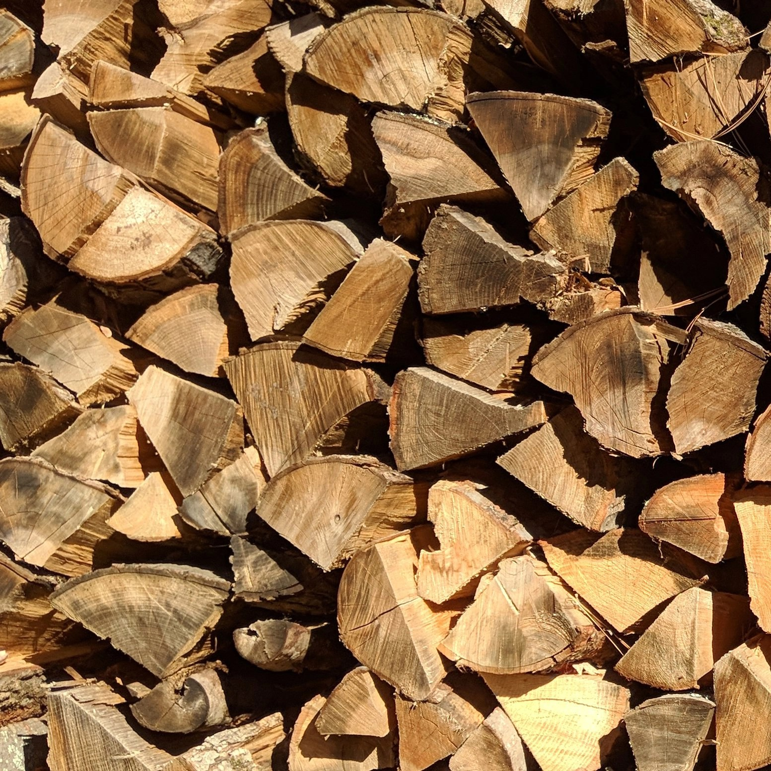 Firewood neatly piled high