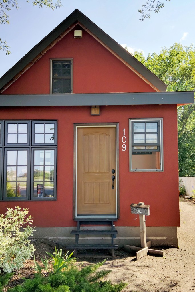 Red Character House in Saskatoon, SK, Canada