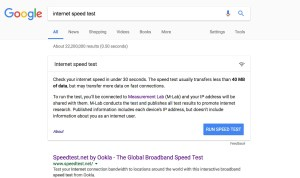 Searching for an internet speed test provider