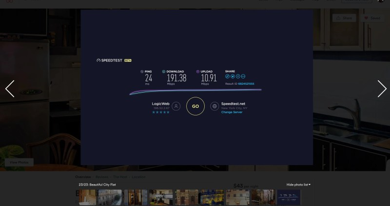 Displaying internet speeds on your Airbnb listing as an image