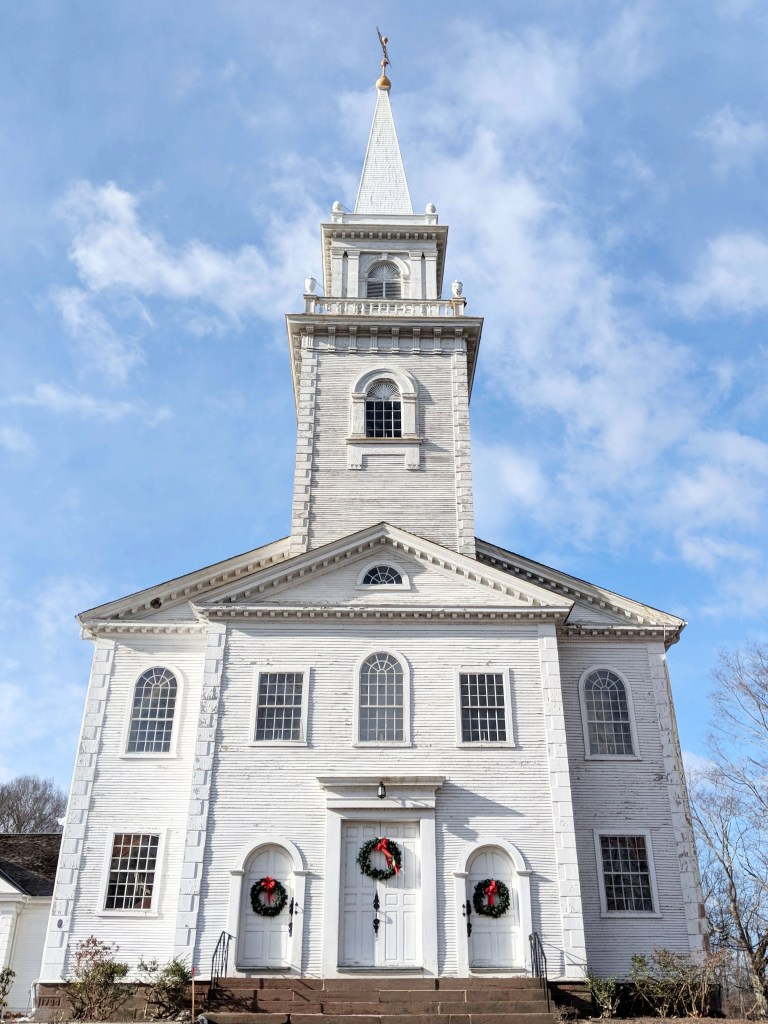 New England church with steeple