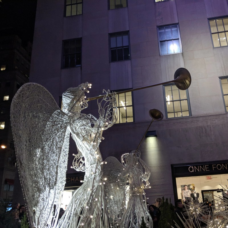 the christmas angels at rockefeller center