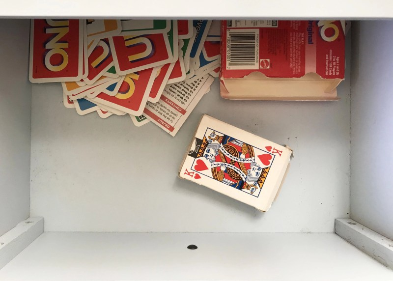 cards in a drawer