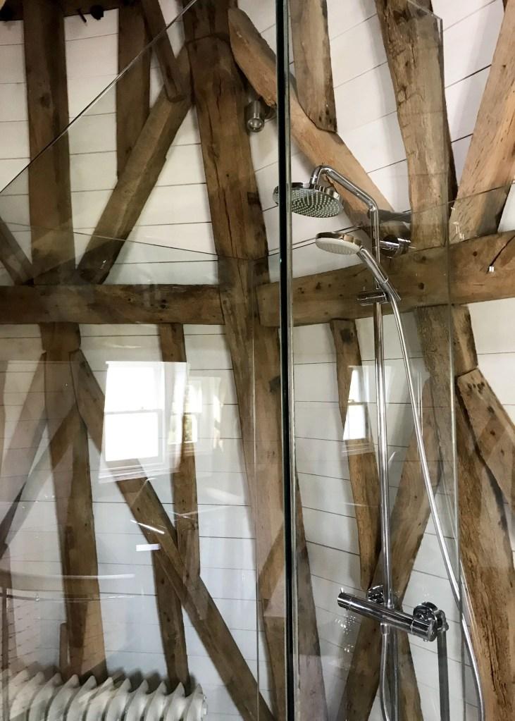modern shower in windmill