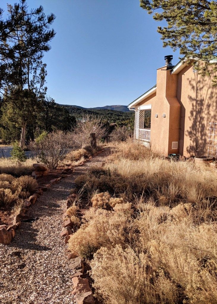 pathway overlooking the Cibola National Forest
