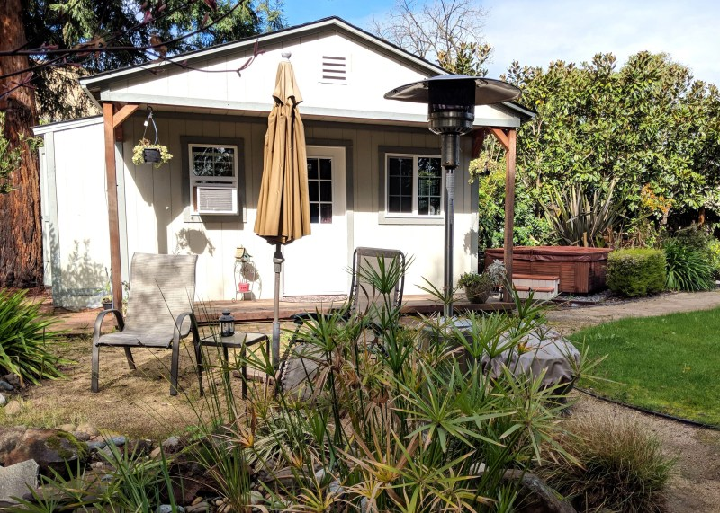 backyard garden cottage