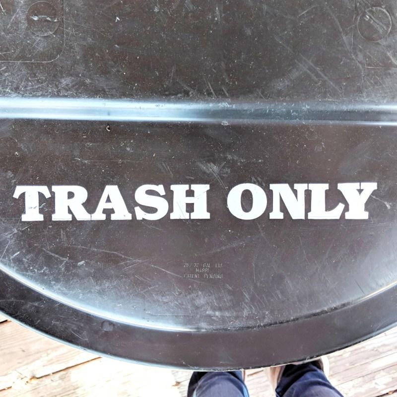 a trash can
