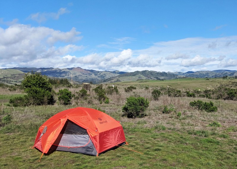 Tent Set up at Hearst San Simeon State Park