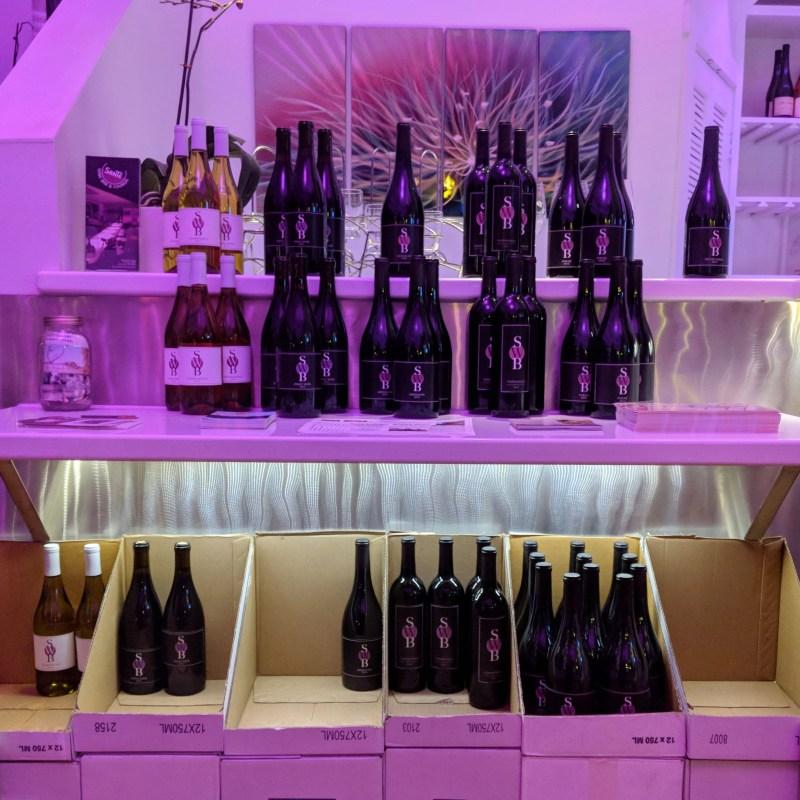 Sante Wine Bar bottles in Solvang, California