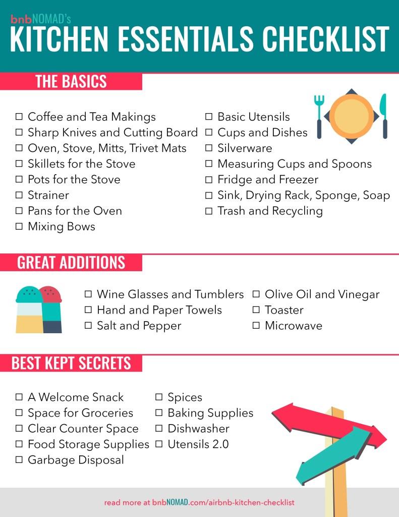 The Airbnb Host's Kitchen Essentials Checklist