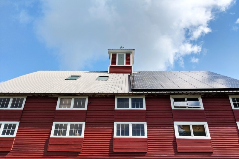 the red barn at Cherry Valley Farm Airbnb