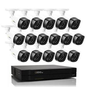 Q-See 16 Channel High Definition 720p Security System with 2TB Hard Drive, 16 720p Bullet Cameras, and 80' Night Vision
