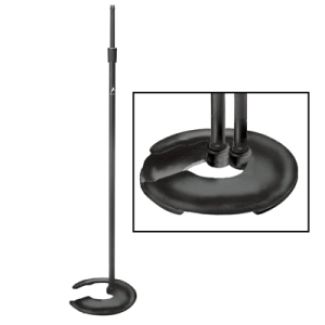 Atlas Black Finish Stackable Base Microphone Stand