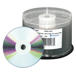 Microboards 50-Pack Silver Thermal Printable Blu-Ray Disc