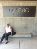 Resting in the shade at One80 Place, an incredible homeless shelter in Charleston, SC