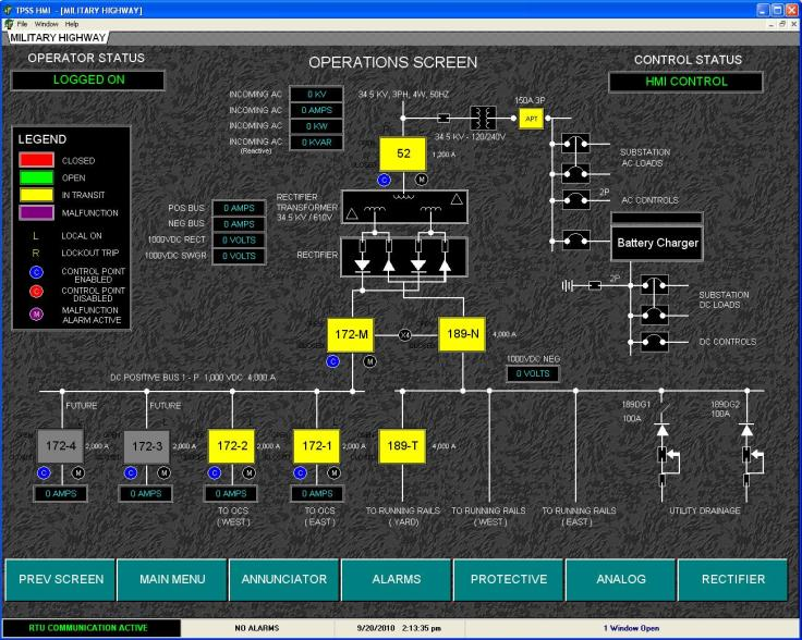 Custom Software HMI Screenshot 1 | B&C Transit Inc.
