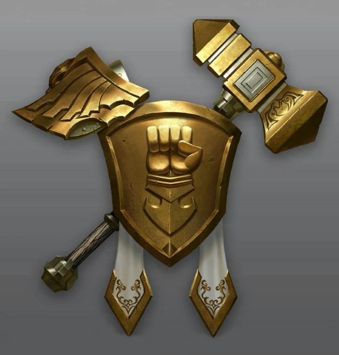 Simbolo della divisione Oro, provvisorio