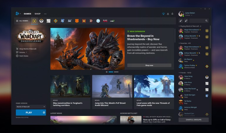 New Battle.net Game Tab - World of Warcraft