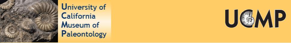 UCMP database banner