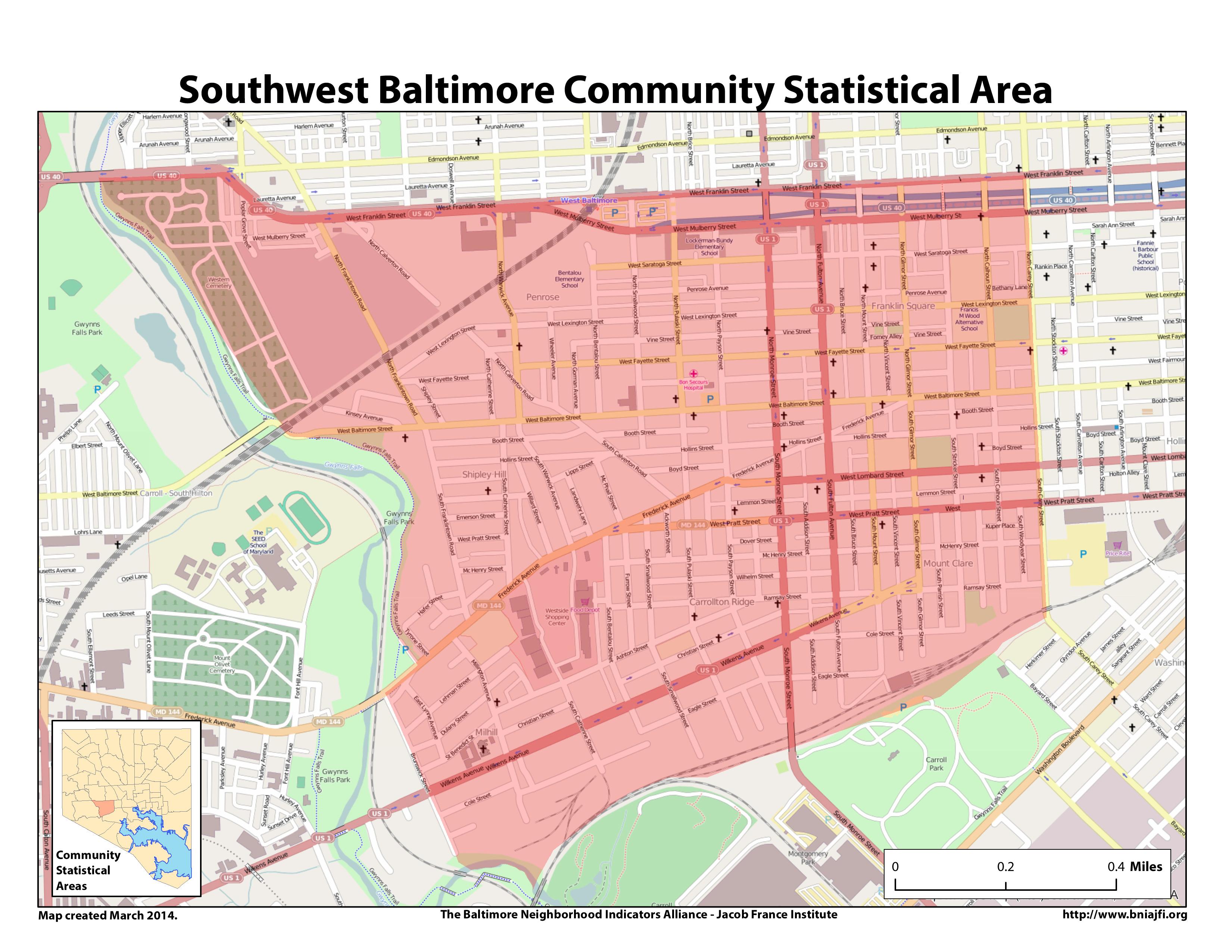 Arlington Heights Street Map