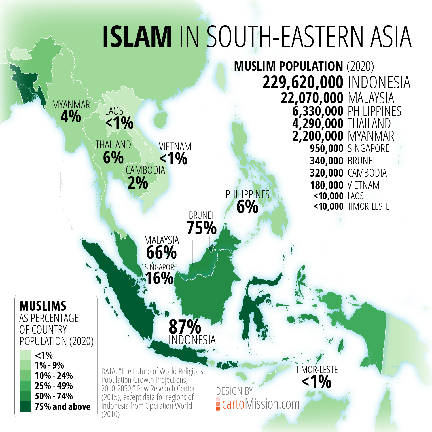 Islam In South Eastern Asia Cartomission