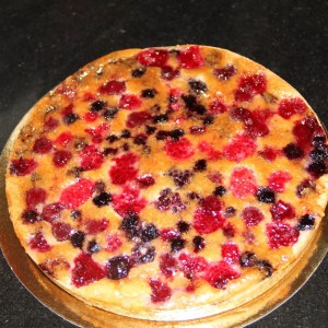 Tarte fruits rouges amandine