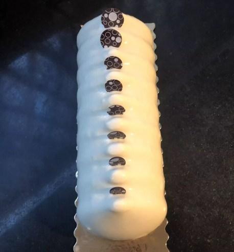 Bûche vanille myrtille