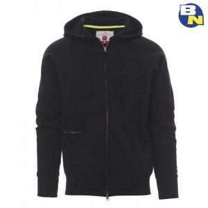 Abbigliamento-Antinfortunistica-felpa-zip-intera-con-cappuccio-nera