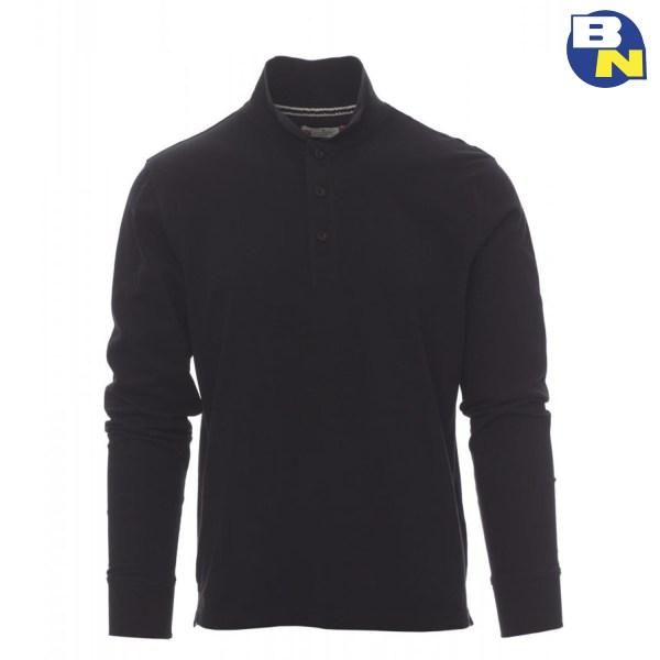 Abbigliamento-Antinfortunistica-polo-manica-lunga-nera