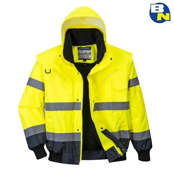 Abbigliamento-Pro-bomber-bicolore-alta-visibilità-giallo