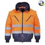 Abbigliamento-Pro-giacca-3in1-alta-visibilità-arancio
