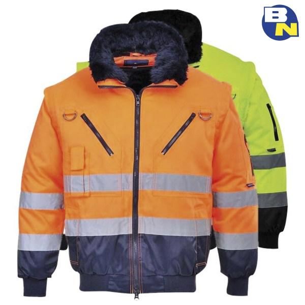Abbigliamento-Pro-giacca-3in1-alta visibilità