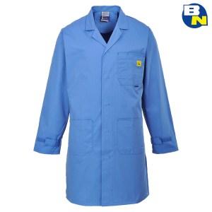 camice esd blu dal lavoro