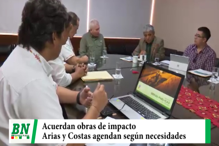 Costas y Arias acuerdan agenda para obras de impacto, carreteras, Hub y Puerto Busch entre principales