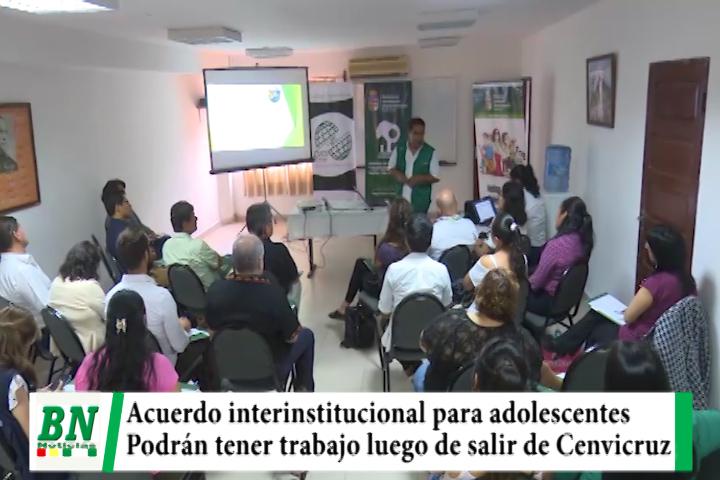 Gobernación logra acuerdo para que jóvenes de Cenvicruz obtengan un trabajo al cumplir condenas