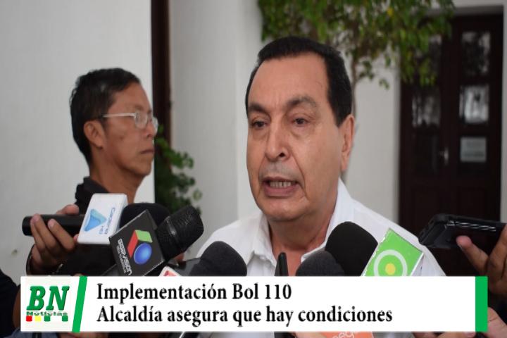Alcaldía asegura que hay condiciones para implementar el Bol 100 de seguridad y que aportó con obras