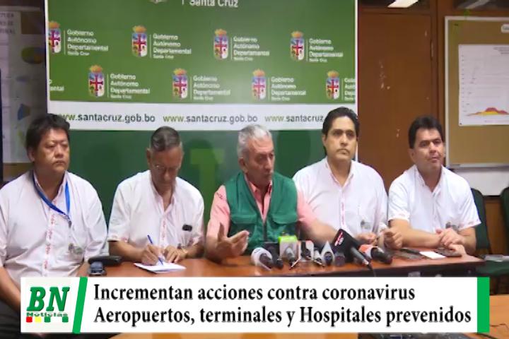 Alerta amarilla por coronavirus, implementan medidas en zonas de llegadas y hospitales, coordinan acciones en aeropuertos y lugares de ingreso