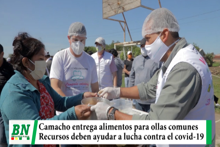 Camacho entrega alimentos para ollas comunes en El Norte, pide que recursos vayan a lucha contra el covid-19