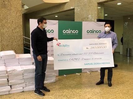 Samuel Doria Medina contribuye a la campaña Demos de Corazón de Cainco