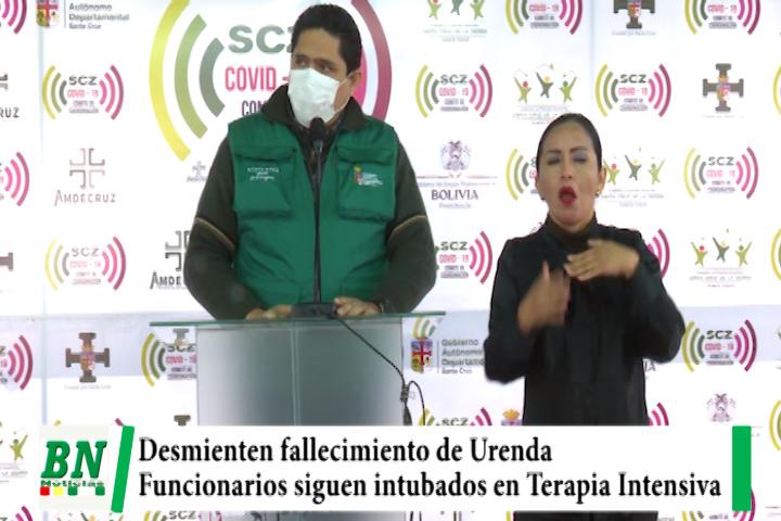 Sedes desmiente fallecimiento de Urenda e informa que sigue intubado bajo cuidados intensivos