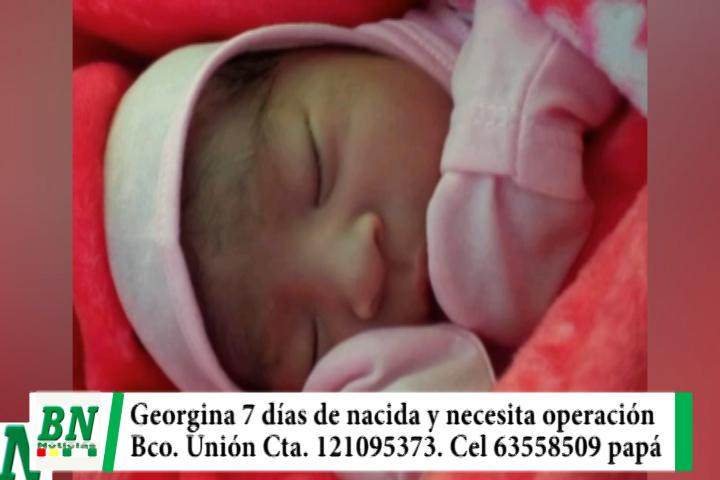 Niña de 7 días de nacida necesita operación del corazón urgente, ayuda a Cta, 121095373 Bco Unión