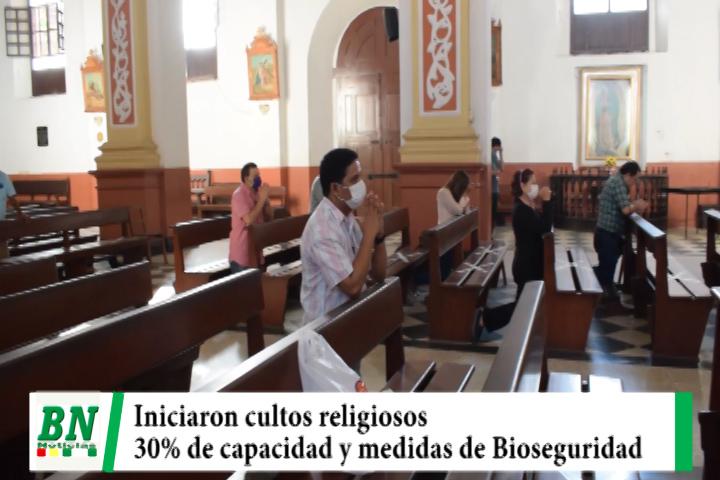 Cultos religiosos iniciaron este viernes con 30% de capacidad y guardando Bioseguridad